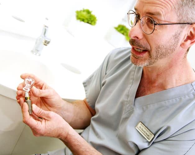 dentist demonstrating treatment